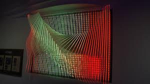 Clear Acrylic Sculptural LED 3D Wall Panel By TexturedSurface