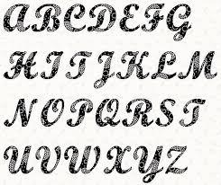 Alphabet Script 4 inch Stencil