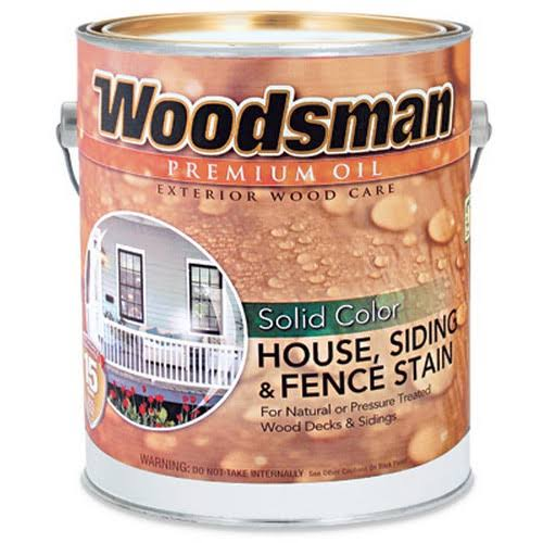 Woodsman Brown Solid Color Oil House and Trim Stain - 1gal