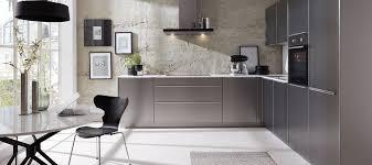 designküche in lacklaminat stahl gebürstet nachbildung küche metallic