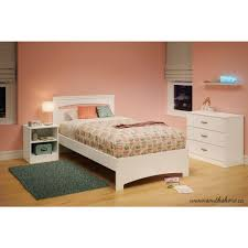 south shore libra pure white twin bed frame 3860189 the home depot