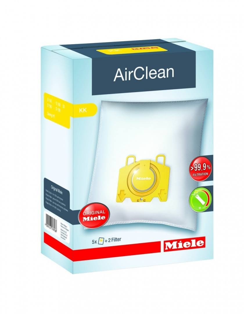 Miele Vacuum Bags KK AirClean 3D Efficiency FilterBags™ Type KK - 4 Bags, 2 Filters in Cary, NC at Capital Vacuum
