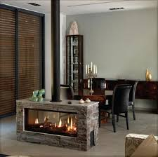 simple fireplace in the middle of the room modern living room
