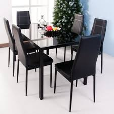 Seven Piece Dining Room Set by Modern U0026 Contemporary Dining Room Sets Allmodern