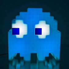 Super Mario Question Block Lamp Uk by Pac Man Pixel Ghost Lamp Cycles Through 16 Colours Menkind