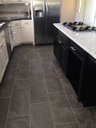 picturesque tiling kitchen floor on within ivetta black slate