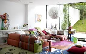 Oversized Floor Pillows With Natural Velvet Lounge