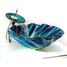 seashell clam beach lake bathroom vessel sink amazon com