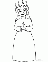 St Lucia Day Coloring Page