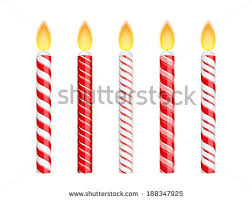 Red birthday candles isolated on white background vector eps10 illustration