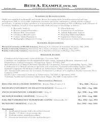 Veterinarian Resume Cover Letter Examples Vet Tech Samples Veterinary Technician Best Of Sample New B