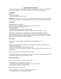 Resume Examples For Recent College Graduates Best Graduate Awesome Template Nursing New