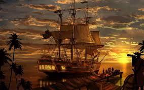 Classic Living Room Art Wall Decor Fantasy Pirate Pirates Ship Boa