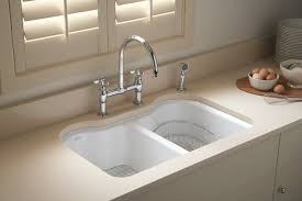 kohler k 5818 5u fe hartland double equal undercounter sink with