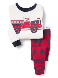 GAP BABY / Toddler Boys Size 5 Years / 5T Red Fire Truck Pajamas PJ ...