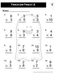 Halloween Multiplication Worksheets Coloring by Halloween Multiplication Worksheet Packet Set Of 4 Worksheets