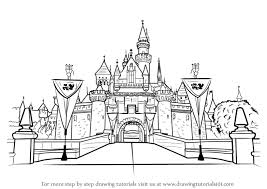 Full Size Of Coloring Pagehow To Draw Castles How Disneyland Castle