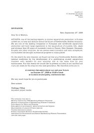 French Business Letter Example Invitation Template For Us Visa New
