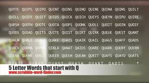 5 letter words that start with Q