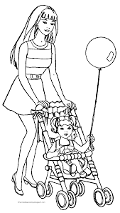 Baby Sitting Coloring Pages