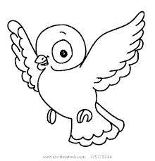 Free Coloring Pages Birds Creative Bird Cute Love Page Col
