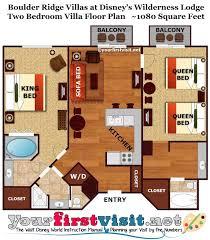 The Master Bedroom and Bath Area of a Boulder Ridge Villa at