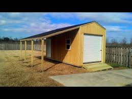 Wood Storage Sheds 10 X 20 by 10x20 Shed With Lean To Shed Plans Stout Sheds Llc Youtube