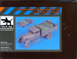 100 Resin Model Truck Parts Blackdog S 135 SOVIET GAZ MM MODEL 1943 TRUCK ACCESSORIES