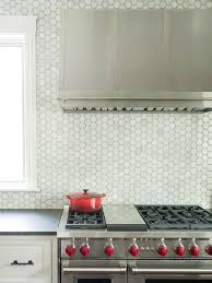 the unique hexagon backsplash for the home