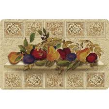 Decorative Cushioned Kitchen Floor Mats by Apache Mills Fruit Still Life Cushion Comfort 22 In X 34 In Foam