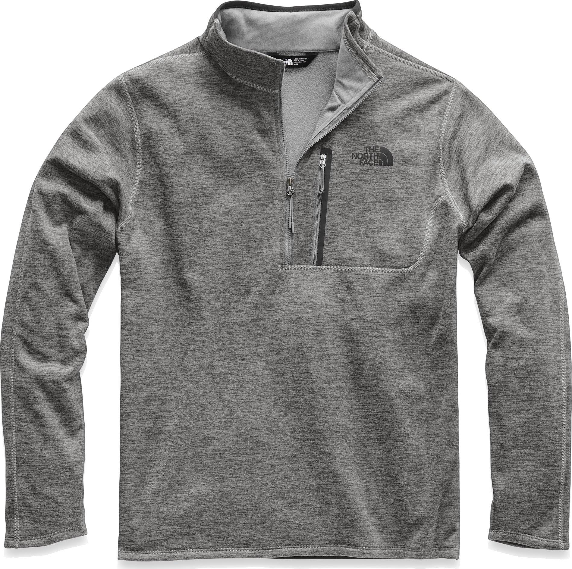The North Face Men's Canyonlands 1/2 Zip TNF Medium Grey Heather XL