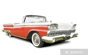 fototapete isoliert amerikanischen 50er jahre auto