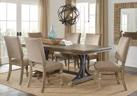 Sierra Vista Driftwood 5 Pc Rectangle Dining Set | Home In ... Awesome Large Ding Table The Best Of Room On Set Walden Extension Solid Wood Chairs Home Fniture Design Perfect Exquisite Bali Hand Carved 8 9 Pc Oval Dinette Ding Room Set Table Upholstered Modern Kincaid Artisans Shoppe Traditional Bamboo 5 Pcs Caramelized Linden Sets Nebraska Mart Legacy Classic Symphony 7piece Rectangular A Roundup Of 126 Tables For Every Style And Space Mhattan Comfort Stiwell 4725 In Red