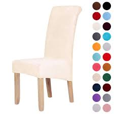 Velvet Stretch Dining Chair Slipcovers - Spandex Plush Short Chair Covers  Solid Large Dining Room Chair Protector Home Decor Set Of 4, Cornsilk Sonnis Pack Of 4 Stretch Chair Coverschair Slipcovers Washable Removable Seat Covers Elastic Protector Chairs For Hotel Restaurant Wedding Teresting Chair Cover Chaircovers Make It Subrtex Square Knit Ding Room Good 5 Sherborne Recliner Ipirations No Corner Spandex Banquet Cover Orange Z Mid Century Modern By For Sale Cushions Surprising Faux Leather Fabric Shorty Rooms Budge Neverwet Hillside 49 In H X 28 W 27 D Tan Black And Chairbarstool Jf From Pillowcases Jackiehouchin Home Ideas Instantly Add Flair Style To Your Kitchen Or Ding Room With