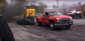 Unbelievable TUG Of WAR! Duramax Beats Semi Truck Like It Is A TOY ...