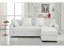 canapé tissu blanc d angle convertible et réversible simbad en tissu ou