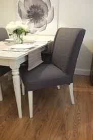 Gray Dining Room Chair Slipcovers Fresh Grey Lovely How To Sew A