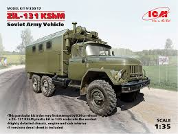 100 Rc Army Trucks ZiL131 KShM Soviet Vehicle ICM 35517