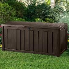 keter glenwood 101 gallon resin deck box reviews wayfair