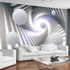 großhandel benutzerdefinierte wandgemälde 3d tapete moderne abstrakte stereoskopischen raum kreis wohnzimmer tv hintergrund fototapete wandbild