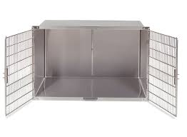 100 Steel Shipping Crates Stainless Double Door Cage With Optional Divider