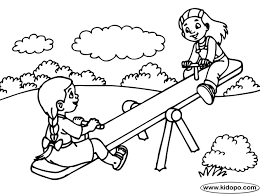 630x470 Seesaw Coloring Page