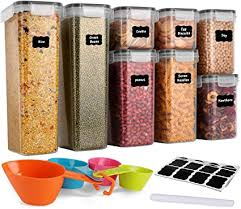 gomaihe vorratsdosen 8 set aufbewahrungsbox küche luftdicht behälter aus plastik mit deckel vorratsgläser zur aufbewahrung nudeln müsli reis