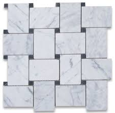 white marble woven mosaic tile 12x12 polished marble from italy