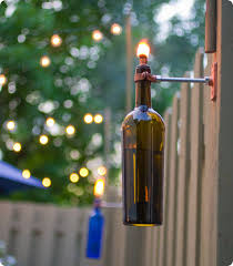 Citronella Oil Lamps Torches by Diy Project Erik U0027s Recycled Wine Bottle Torch U2013 Design Sponge