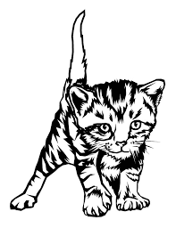 Kitten Coloring Book Pages Cute To Print