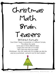 Halloween Brain Teasers Math by Fun Games 4 Learning Christmas Math Games