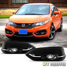 for 2014 2015 honda civic coupe 2dr fog lights bumper ls w
