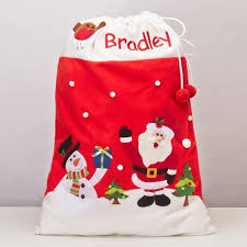 60 off large christmas embroidered personalised gift santa sack