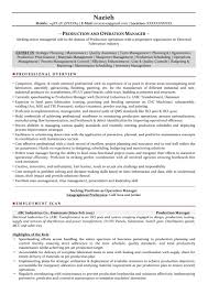 Resume Examples Manufacturing Supervisor Unique Production Manager Sample Resumes Download Format Templates